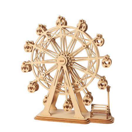 Puzzle 3D Ferris Wheel, Lemn, 120 piese0