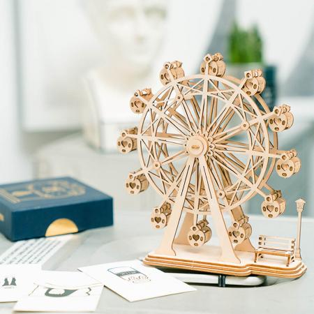 Puzzle 3D Ferris Wheel, Lemn, 120 piese1