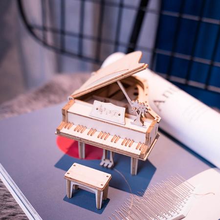 Puzzle 3D Grand Piano, Lemn, 74 piese1