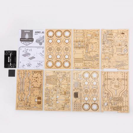 Puzzle 3D Jeep, Lemn, 369 piese [5]