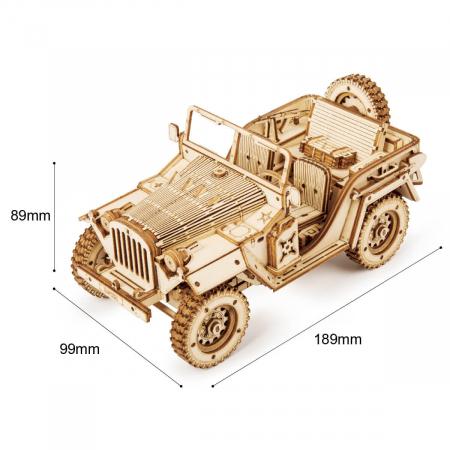 Puzzle 3D Jeep, Lemn, 369 piese [2]