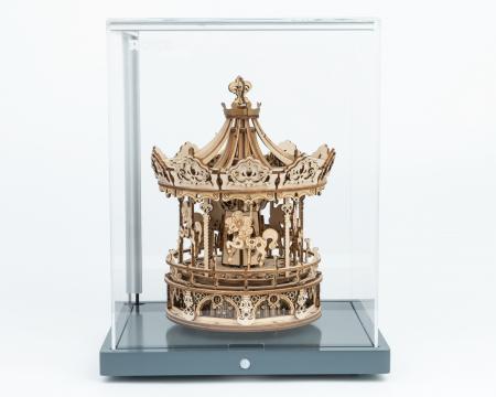 Puzzle 3D, lemn, cutiuta muzicala, Carusel Romantic, 337 piese3