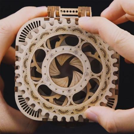 Puzzle 3D, lemn, cutiuta muzicala, Gradina secreta [4]