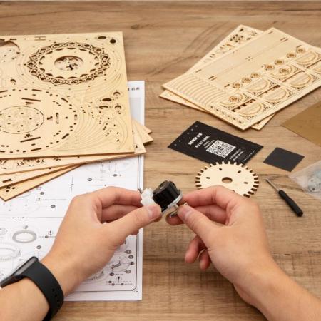 Puzzle 3D, lemn, cutiuta muzicala, Gradina secreta [3]