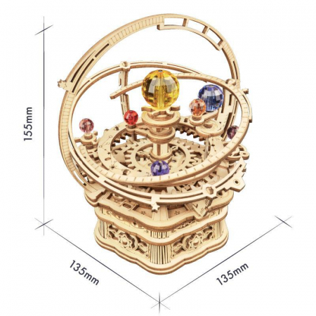 Puzzle 3D, lemn, cutiuta muzicala, Noapte Instelata [1]