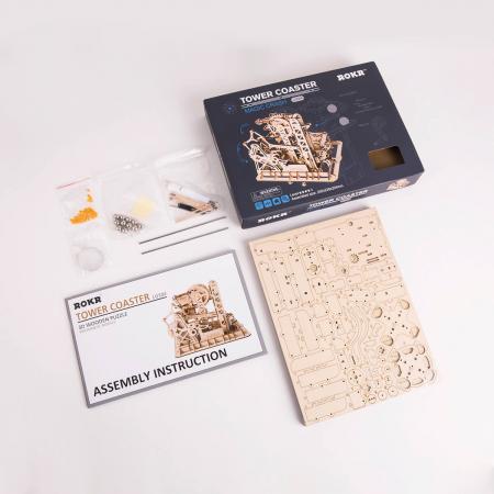 Puzzle 3D Marble Climber, Lemn, 227 piese7