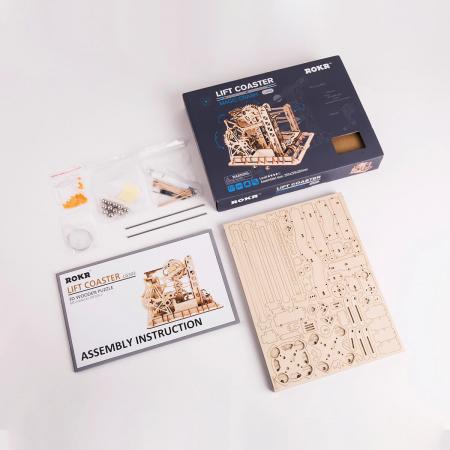 Puzzle 3D Marble Explorer, Lemn, 219 piese4