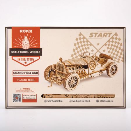 Puzzle 3D Masina de curse, Lemn, 220 piese4