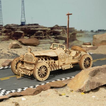 Puzzle 3D Masina de curse, Lemn, 220 piese2