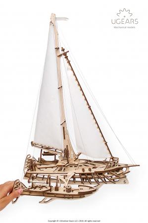 Puzzle 3D Mecanic, Barca Trimaran, 237 piese [2]