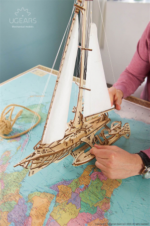 Puzzle 3D Mecanic, Barca Trimaran, 237 piese [3]