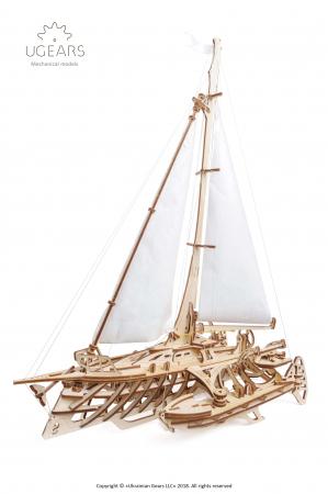 Puzzle 3D Mecanic, Barca Trimaran, 237 piese [0]
