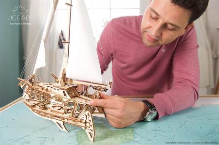 Puzzle 3D Mecanic, Barca Trimaran, 237 piese [4]