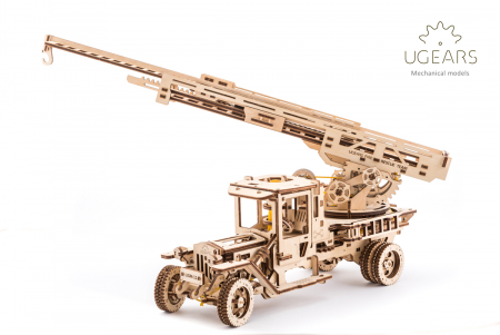 Puzzle 3D Mecanic, Camionul de Pompieri, 537 piese [7]