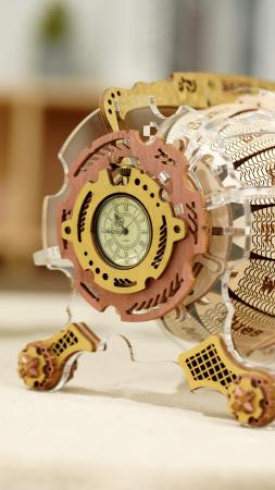 Puzzle 3D Mecanic , Ceas Calendar Masina Timpului, 250 piese3