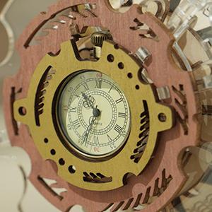 Puzzle 3D Mecanic , Ceas Calendar Masina Timpului, 250 piese5