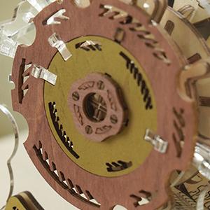 Puzzle 3D Mecanic , Ceas Calendar Masina Timpului, 250 piese4