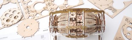 Puzzle 3D Mecanic , Ceas Calendar Masina Timpului, 250 piese8