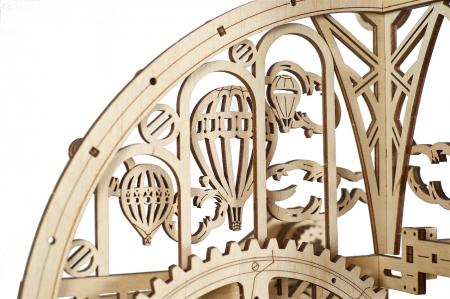Puzzle 3D Mecanic, Ceas de perete cu pendul, 320 piese [4]