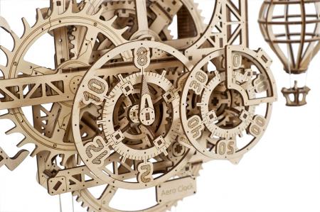 Puzzle 3D Mecanic, Ceas de perete cu pendul, 320 piese [3]