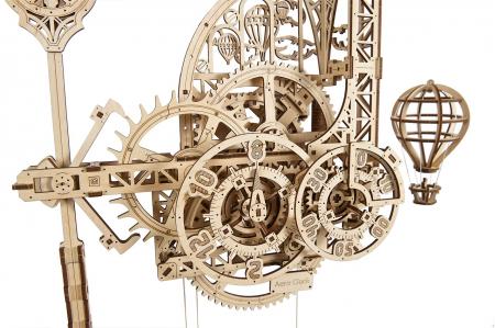 Puzzle 3D Mecanic, Ceas de perete cu pendul, 320 piese [5]