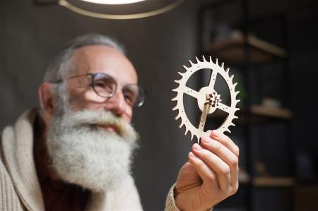 Puzzle 3D Mecanic, Ceas de perete cu pendul, 320 piese [7]