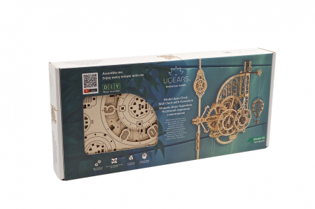 Puzzle 3D Mecanic, Ceas de perete cu pendul, 320 piese [10]