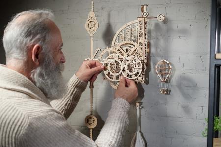 Puzzle 3D Mecanic, Ceas de perete cu pendul, 320 piese [9]