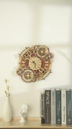 Puzzle 3D Mecanic, Ceas de perete Zodiac, 168 piese9