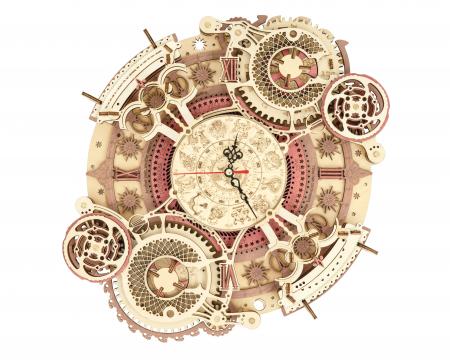 Puzzle 3D Mecanic, Ceas de perete Zodiac, 168 piese0