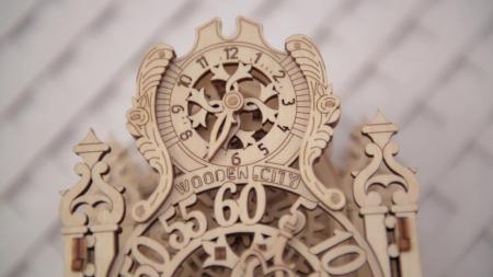 Puzzle 3D Mecanic, Ceas regal, 126 piese4