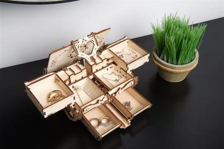 Puzzle 3D Mecanic, Cutie Antica de Bijuterii, 185 piese [5]