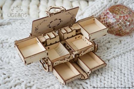 Puzzle 3D Mecanic, Cutie Antica de Bijuterii, 185 piese [3]