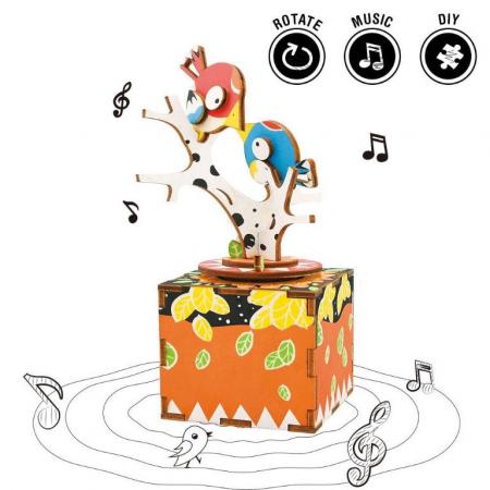 Puzzle 3D, Mecanic, Cutiuta muzicala, Cantec in copac, 33 piese [3]
