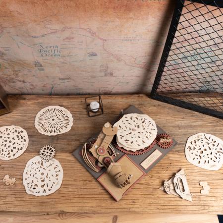 Puzzle 3D Mecanic Drawmaton, The Slayer, Lemn, 141 piese2