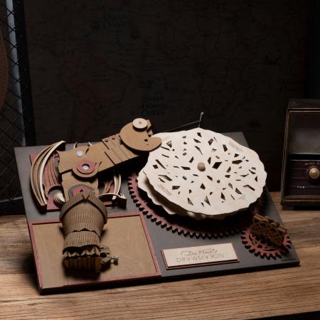 Puzzle 3D Mecanic Drawmaton, The Slayer, Lemn, 141 piese1