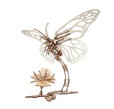 Puzzle 3D Mecanic , Fluture cu floare [0]