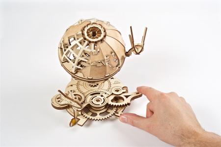 Puzzle 3D Mecanic, Glob Pamantesc, 184 piese [3]