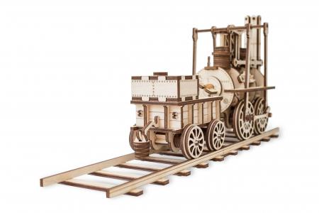 Puzzle 3D Mecanic, Locomotiva cu abur, 325 piese1
