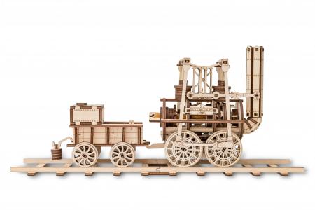 Puzzle 3D Mecanic, Locomotiva cu abur, 325 piese0