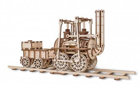Puzzle 3D Mecanic, Locomotiva cu abur, 325 piese2
