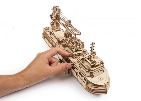Puzzle 3D Mecanic, Nava de cercetare, 575 piese [17]