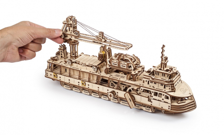 Puzzle 3D Mecanic, Nava de cercetare, 575 piese [9]