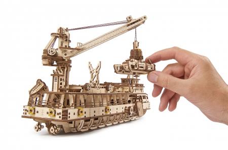 Puzzle 3D Mecanic, Nava de cercetare, 575 piese [12]