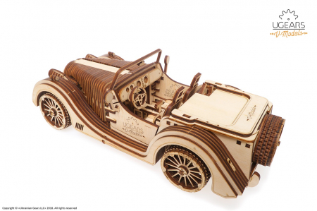 Puzzle 3D Mecanic, Roadster VM-01, 437 piese [5]