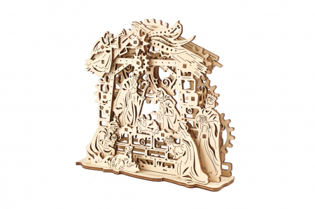 Puzzle 3D Mecanic, Scena Nasterii Domnului, 59 piese [1]