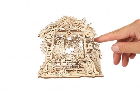 Puzzle 3D Mecanic, Scena Nasterii Domnului, 59 piese [4]