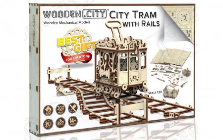 Puzzle 3D Mecanic, Tramvai cu sine [5]