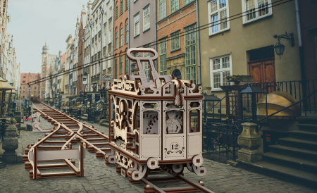 Puzzle 3D Mecanic, Tramvai cu sine [3]