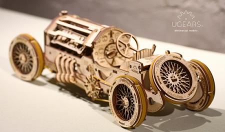 Puzzle 3D Mecanic, U-9 Grand prix car, 348 piese [5]